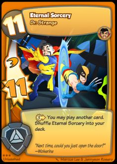 super hero squad trading card game dr strange