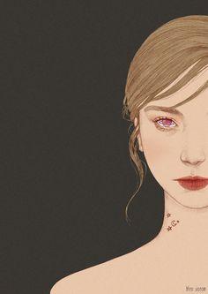 그녀의 눈을 보면 마치 그 속에 별이 존재하는 것만 같아