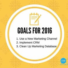 : @smpsocialmedia [Awesome Post!!] 2016 BUSINESS GOALS  1. Use a new marketing channel Change up your marketing strategy by trying one or two new marketing channels. For example you might want to consider video marketing or branching out to another social media channel. Before you take on a new marketing channel however do some market research to determine if it even makes sense for your small business. After all you dont want to lose money and theres no point in pursuing an additional…