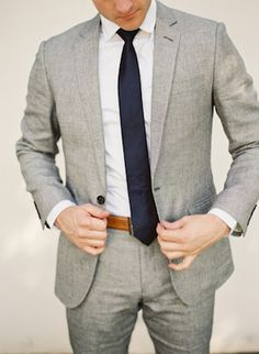 Dying over this look for my fiance! Clean Classic Sexy! That belt would match perfectly with the shoes he loves.