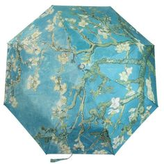 Anti Uv Van Gogh Oil Painting Folding Windproof Lady Women Clear/Rain Umbrella