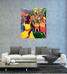 Carnaval of Santiago de Cuba by Andy Cano. Painting, Oil on Canvas, Size: 100 cm x 120 cm. Browse and Shop Artworks of Andy Cano at Gallerymak.com | #gallerymak #oilpainting #ressam #resim #paintings #tablo #fineart #music #dance #müzik #küba #cuba #painter #yağlıboya #contemporaryart #contemporary