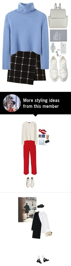 """""""First day of school."""" by mskaterina on Polyvore featuring The Row, John Lewis, Komono, school, white, simple and sweaterweather"""