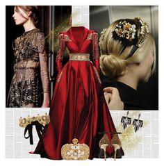 """Heavy Metal: Metallic Dresses"" by bklana ❤ liked on Polyvore featuring Dolce&Gabbana, Randa, Alexander McQueen, Burberry, Lulu Frost, metallic, metallicdress and bklana"