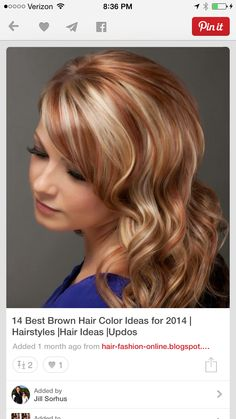 Blonde with auburn lowlights