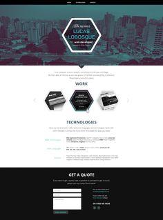 Web design for Lucas Lobosque by Gosure #POTD99 09.17.2013 #geometric #teal