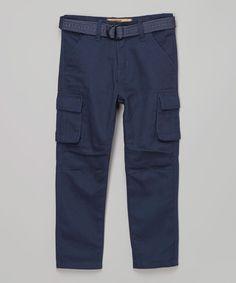 Navy Cargo Pants - Boys