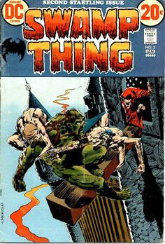 Swamp Thing v1 #2 1970s bronze age dc comic book cover art by Bernie Wrightson