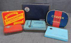 6 Fantastic Vintage TOBACCO TINS...1920s - 1950s...Buccaneer Booker Tobacco…