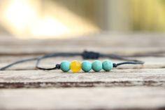 Náramok na šnúrke tyrkenit / Akoya - SAShE. Summer Essentials, Turquoise Bracelet, Crystals, Bracelets, Jewelry, Jewlery, Jewerly, Schmuck, Crystal