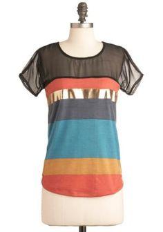 Later, Skater Top | Mod Retro Vintage Short Sleeve Shirts | ModCloth.com