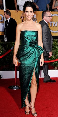 Awards Show Style: Top Red Carpet Looks from the 2014 Oscar Nominees - Sandra Bullock from #InStyle