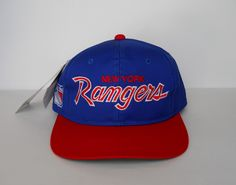 674be69f138 Vintage Deadstock circa 1993 New York Rangers Sports Specialties  Twill   Colorway Script Snapback (Original With Tags)