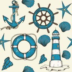 Longshore Tides Ocean Marine Peel & Stick Wallpaper N015196 Vinyl in Gray, Size 24.0 W in   Wayfair   Home Decor