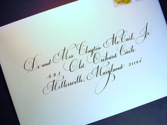Wedding Envelopes in Calligraphy от DamnGoodCalligraphy на Etsy