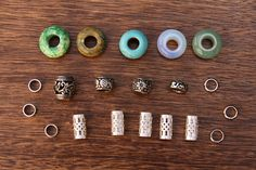 Set Of 20 Gemstone Stainless Steel Dread Bead Pack 5mm/6mm Dreadlock Beads #dreadbeads #dreadlockbeads Hair Accessories and Hair Jewelry Jewellery.