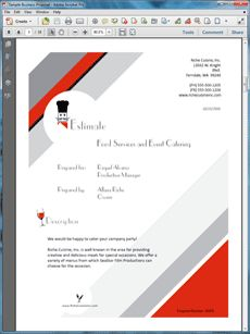 Food Services Proposal - Create your own custom proposal using the full version of this completed sample as a guide with any Proposal Pack. Hundreds of visual designs to pick from or brand with your own logo and colors. Available only from ProposalKit.com (come over, see this sample and Like our Facebook page to get a 20% discount)