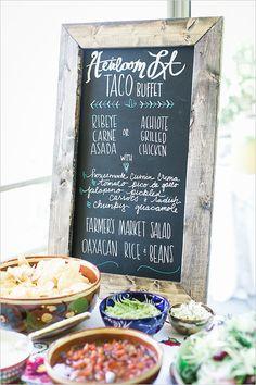 taco buffet sign @weddingchicks