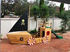 Pirate Ship Sandbox + Slide - The Wood Workshop Kids Outdoor Play, Kids Play Area, Backyard For Kids, Sand Pit, Play Yard, Backyard Playground, Play Houses, Kids Playing, Pirates