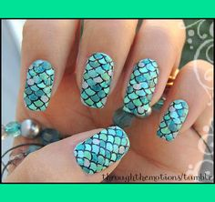 Mermaid Nails | Through-the-Motion S.'s (throughthemotions) Photo | Beautylish