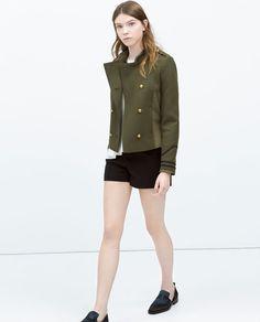Imagen 1 de CHAQUETA MILITAR COMBINADA de Zara