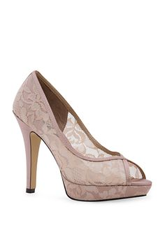 Nude lace peep-toe pumps from Mango (Waiting for them to go on sale)