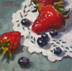 """Berries"" - Original Fine Art for Sale - © Karen Werner"