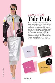 what to wear with pale pink