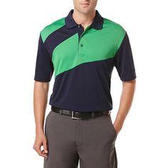 Ben Hogan Performance Chest Color Block Short Sleeve Polo Shirt