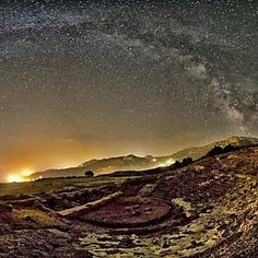 Ancient theater of Aegira, Greece -  A stunning view of this ancient site in Greece, under the starlit trail of the Milky Way.  Photo by Nikolaos Pantazis. - http://earthsky.org/todays-image/ancient-theater-of-aegira-greece?utm_source=EarthSky+News&utm_campaign=4490acdb37-EarthSky_News&utm_medium=email&utm_term=0_c643945d79-4490acdb37-393623081