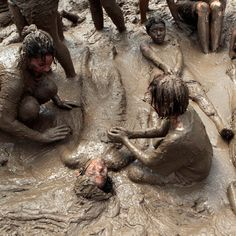 People playing in the mud - Google Search Garden Sculpture, Lion Sculpture, Mud, Statue, Inspiration, Bathing Suits, Inspired, Google Search, People