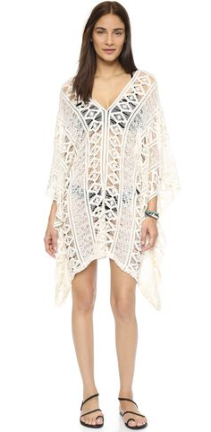 Best coverup for the beach! Sheer crochet. Eberjey Wild & Free Nora Cover Up