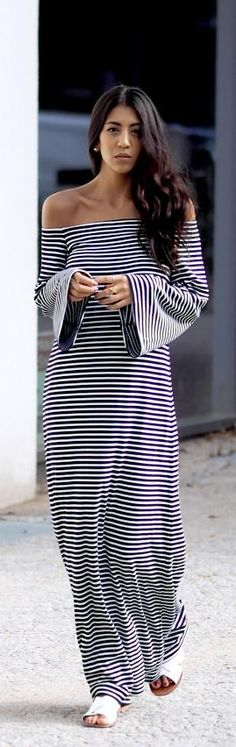Striped Maxi / Fashion by Not Your Standard