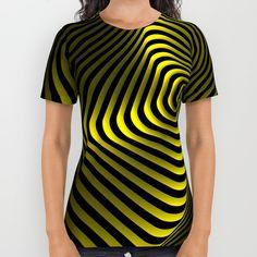 Абстрактные геометрические формы - вращающиеся элементы линии и круги. На Всем Протяжении Печати Рубашка