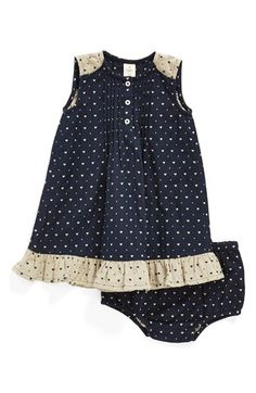 Tucker + Tate Heart Print Cotton Dress & Bloomers (Baby Girls) available at #Nordstrom
