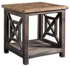 Spiro Reclaimed Wood End Table by Mintwood Home