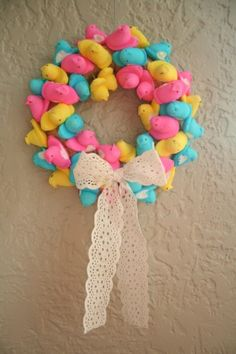 Marshmallow peep wreath!