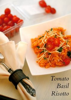Tomato Basil Risotto- easy step-by-step directions on making perfect risotto every time!