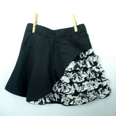 Organic Girls Skirt  Peekaboo Ruffle Skirt