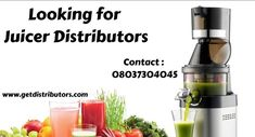 GetDistributors provide the best services for the companies looking for Juicer Distributors, Wanted Juicer Machine Wholesalers Suppliers In India. Submit your requirements with us. #Juicerdistributors #Juicerdistributorship #Juicerwholesaledealer #Juicerdealers #distributors #onlinebusiness #startups #manufacturer