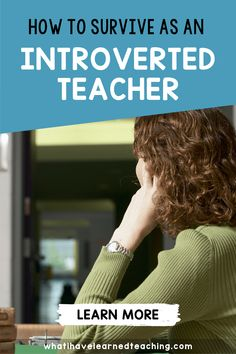 Are you an introverted teacher who NEEDS downtime after a long day in a high-energy classroom? I am. I need to work on strategies to give myself a break from teaching. Here is how I survive as an introverted teacher in an elementary classroom with students to vie for my attention all day long. Teaching Second Grade, Second Grade Teacher, First Grade Teachers, New Teachers, Fourth Grade, Third Grade, Classroom Procedures, Classroom Jobs, Teacher Blogs