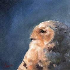 Snowy owl oil painting by artist Eric Sweet. Owl Wall Art, Owl Artwork, Wolf Painting, Impressionist Paintings, Oil Paintings, Owl Print, Snowy Owl, Print Artist, Illustration