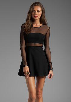 MOTEL Valeria Dress in Black