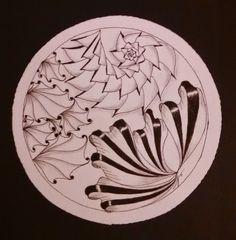 Dragonfly-Artz - Nathalie / Alaura by Diane Tai CZT, Angel Fish by Marizaan van Beek CZT, Aquafleur by Zentangle
