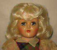 "1950's Ideal 14"" HP Platinum Blonde Toni Doll in Tagged Dress  P-90  MK101"