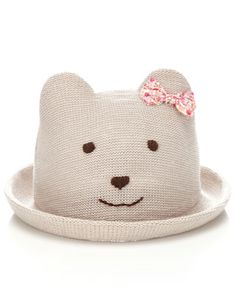 A darling novelty cloche hat in a bear design, complete with little ears and an applique bow. Cartoon Expression, Cute Photography, Bear Design, Cloche Hat, Free Clothes, Monsoon, To My Daughter, Hello Kitty, Baby Shoes