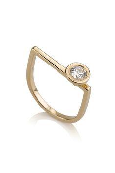 Chloe Ring / Geometric diamond Ring