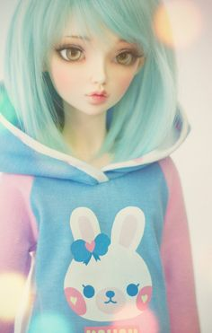 """Rabbit heart"" by Rona via Flickr #doll #bjd #pastel thats the shirt I want for rin"