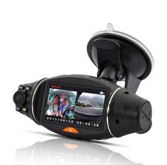 Dual Camera Car DVR with GPS Logger and GPS Sensor