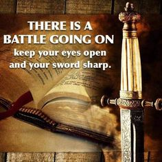 A spiritual battle is going on....